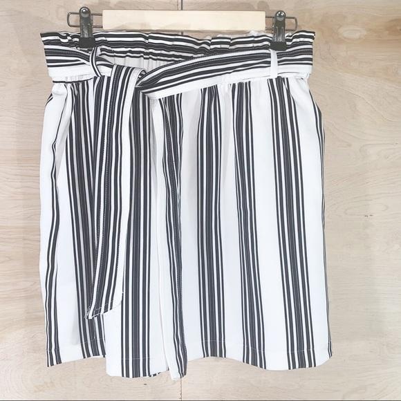 25c84c2bf Urban Heritage Skirts | Belted Striped Paper Bag Skirt | Poshmark
